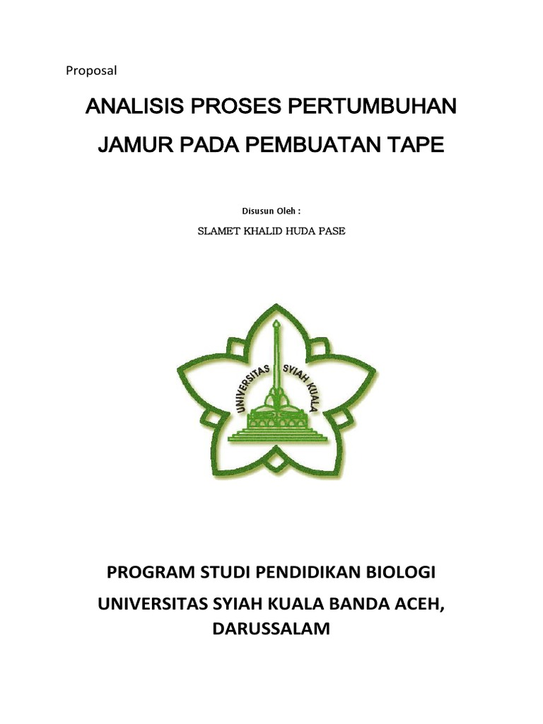 Proposal Penelitian Biologi Ilmusosial Id
