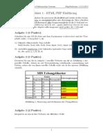 Übungsblatt 1 - HTML/PHP Einführung
