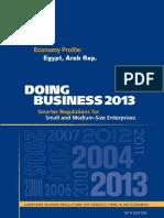 Doing Business 2013 Egypt