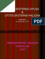 Otitis Eksterna Difusa Dan Maligna