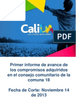 Primer Informe de Seguimiento Consejo Comunitario Comuna 18