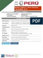 Encuesta DATUM Pulso Perú DIC 2013