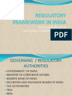 Regulatory Framework in India