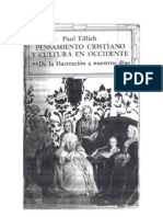 Tilich, Paul. to Crisitano y Cultura de Occidente II