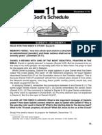 God's Schedule 4-10 Dec
