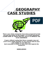 iGCSE Geography Case Studies