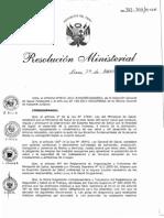 RM-312-2011 Protocolos de Examenes Medico - MINSA