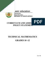 Technical CAPS Technical Mathematics Grades 10-12