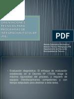 ORIENTACIONES TÉCNICAS PARA PROGRAMAS DE