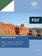 Madagascar - Bilan Commun de Pays 2012 (SNU)