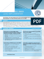 ISO 39001 Lead Implementer - Four Page Brochure