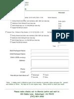 Registration Form Parents and Children