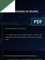 FRAGMENTAÇÃO DE SÓLIDOS FINAL