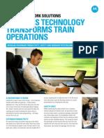 Wireless Technology Transforms Train Operations