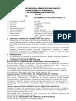 Silabo IO Programacion de as II 20092