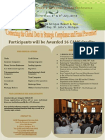 5th Annual AML CFT Conference Brochure 2013 Antigua
