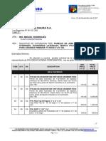 c 0202 07 CIA Minera Raura Por Paneles - Pipe Top Stringers - Guarderas