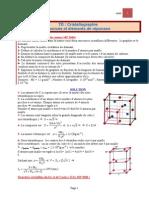 TD CORIGE Cristallographie.
