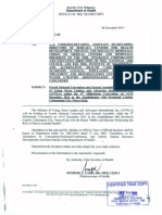 DOH Department Circular No. 2013-0415 - AYNLA 4th Millennium Convention