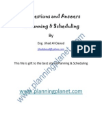 18 Questions and Answers in Planning & Scheduling