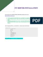 Oracle JD Edwards - Deployment Server Installation