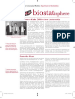 University of Washington Biostatistics - print newsletter