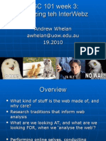 DIGC101 Week 3 - Dr Andrew Whelan - Analysing the Web