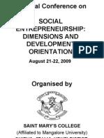 Social Entrepreneurshp