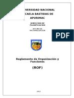 PLAN 13625 Reglamento de Organizacion y Funciones 2013