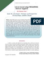 School Children Knowledge REGARING Dental Hygiene