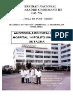 Auditoria de ambiental al hospital de tacna