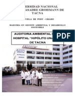 Auditoria de ambiental al hospital de tacna