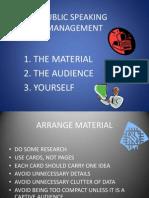 Public Speaking Management
