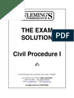 Fleming's Civil Procedure I Outline