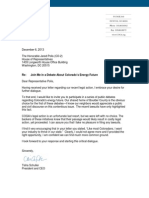 Letter to Congressman Polis from COGA President Tisha Schuller