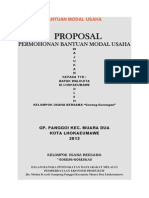 Proposal Bantuan Modal Usaha