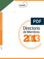 CEMEFI, Directorio de Miembros 2013
