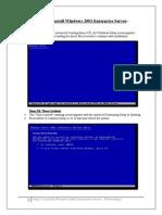 -Steps To Install Windows 2003 Enterprise Server-