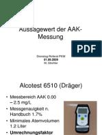 Aussagewert der AAK-Messung