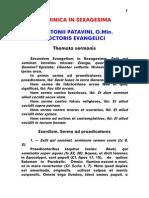 1195-1231, Antonius Patavinus, Sermo 002 Dominica in Sexagesima, LT