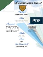 Presentacion, Introduccion y Conclusion de Costro Precio.
