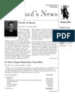 St. Paul's News - February, 2007