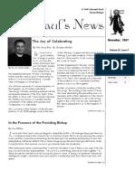 St. Paul's News - November, 2007