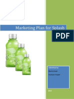Splash Marketing Plan