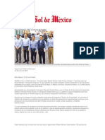 12-06-2013 El Sol de México - Equipa Moreno Valle a policías de Puebla