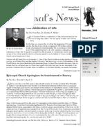 St. Paul's News - November, 2008