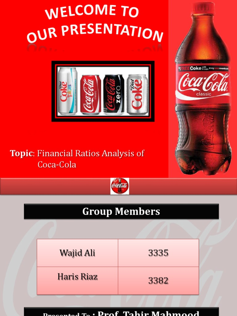 financial analysis of the coca cola company