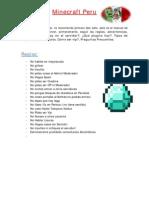 Minecraft Peru Manual