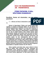 1195-1231, Antonius Patavinus, Sermo 005 Dominica in Quadragesima de Poenitentia, LT
