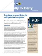 Carriage Instructions for Refrigerated Cargoes